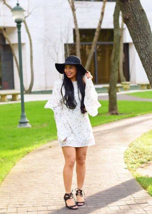 ruffle sleeves spring dress